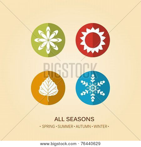 Four season illustration