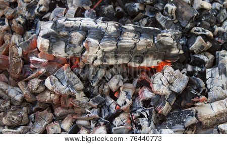 Background of the burning coals