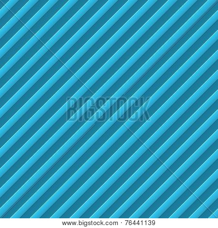 Abstract diagonal bumped stripes blue background.