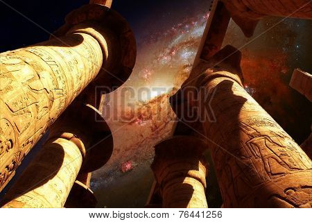 Karnak And Galaxy M106 (elements Of This Image Furnished By Nasa