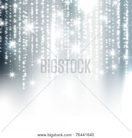 Silver Christmas background with sparkles