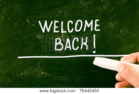 Welcome Back Concept