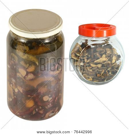 jar with cover under the white background