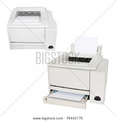 Printing machine isolated under the white background