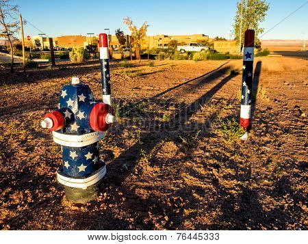 Hydrants From An Early Morning In Page, Arizona