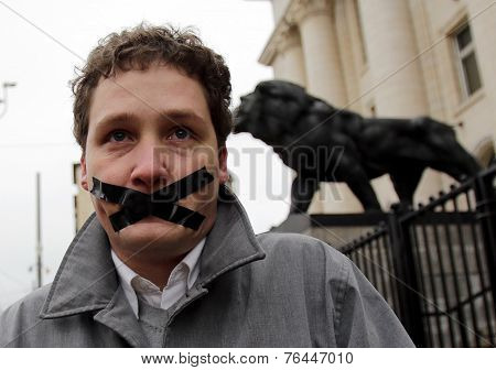 Freedom Of Speech Protester