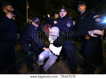 Anti-government Protester Arrested