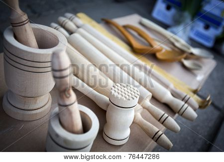 Wooden Spoons, Hammer, Rolling Pin, Spoon, Cup