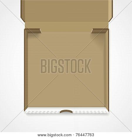 Open Pizza Box Template