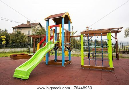 Slide On An Empty Playground