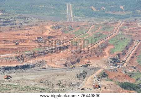 Open Pit Mining Of Coal And Working Machinery
