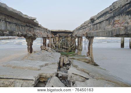 Damage Bridge At Hua Hin