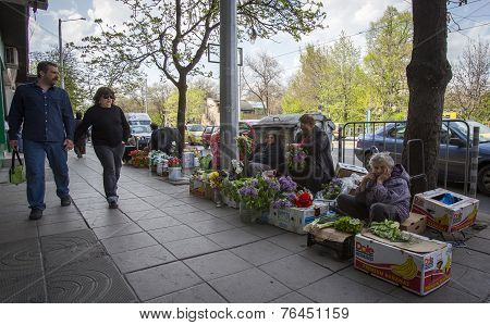 Women Sell Vegetables