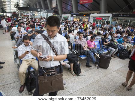 Overcrowded Chinese Railway Station