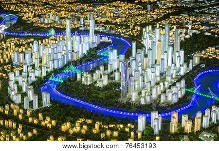 Model Of A Modern City