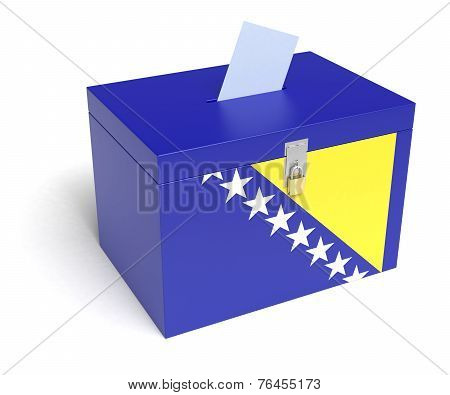 Bosnia And Herzegovina Flag Ballot Box