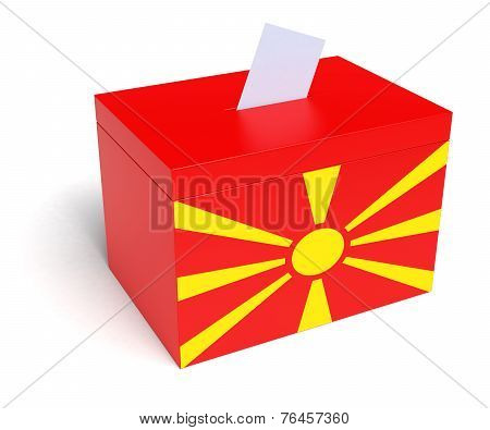 Macedonian Flag Ballot Box