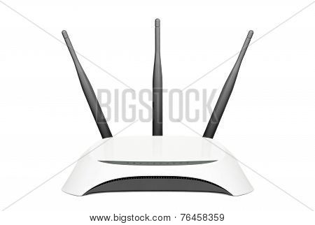 Wifi Router Isolated On White