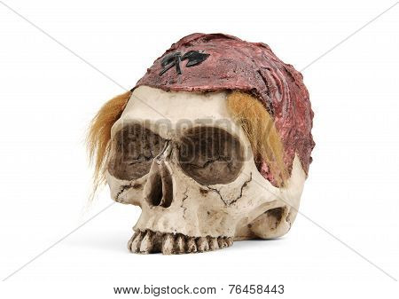 Pirate Skull Isolated On White