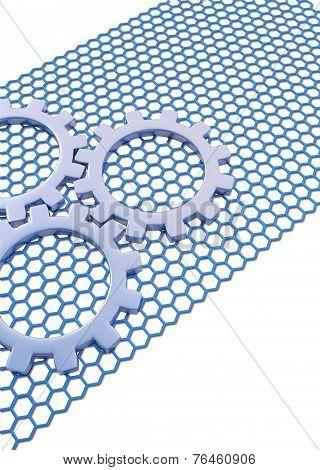 blue brochure business background
