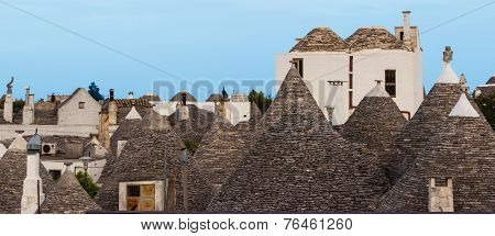 Trulli village in Alberobello Italy.