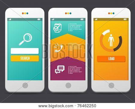 Web Design elements. Applications Templates.