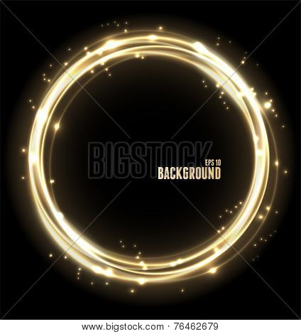 Vector Neon Glossy golden Sphere.