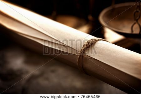 Old scroll with medieval style background.