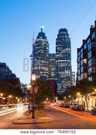 Flatiron And Downtown Toronto At Night