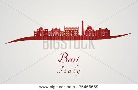 Bari Skyline In Red
