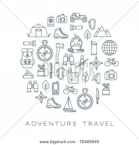 adventure travel round card