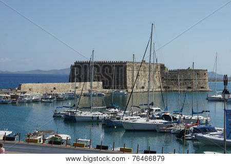 Fortress Koules in Heraklion harbor, Crete, Greece