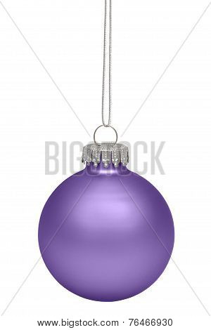 Purple Christmas Ball Isolted On White Background