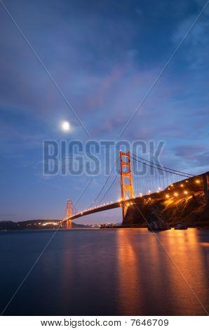 Golden Gate Bridge, San Francisco At Dusk