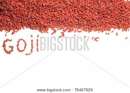 Dried goji berries isolated
