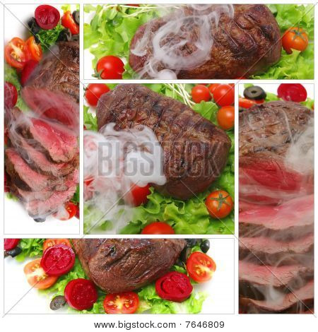 Meat Served With Tomatoes