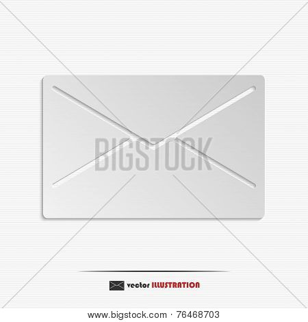 Vector Abstract Closed Envelope Web Icon