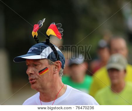 Running Man With A German Hat