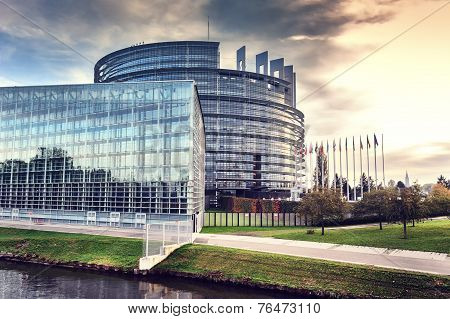 European Parliament Building. Strasbourg, France
