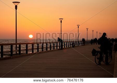 Sunset On Palanga Pier