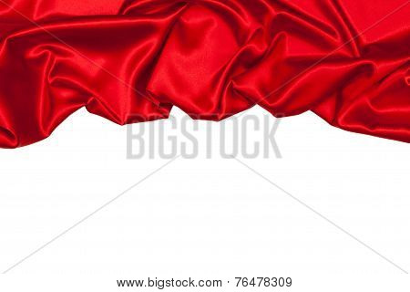 Silk Drape, Isolated On White