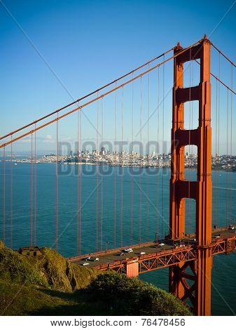 Golden Gate Bridge Close Vertical