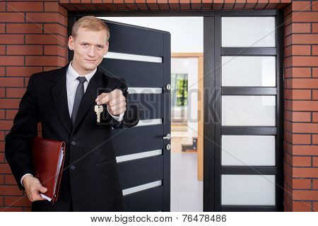 Standing In Front Of Door