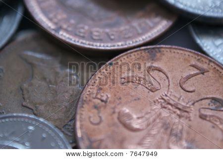 Mixed British coins