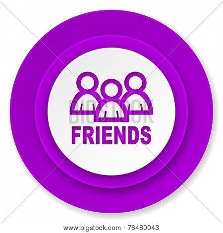 friends icon, violet button