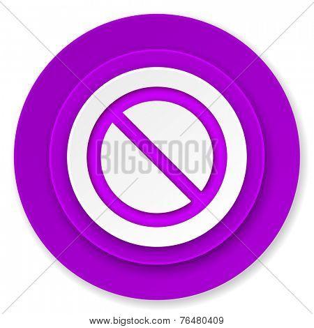access denied icon, violet button