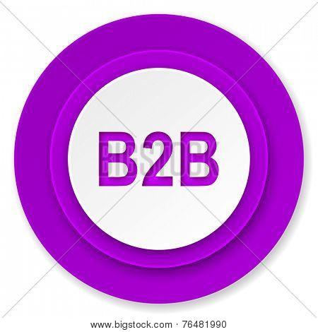 b2b icon, violet button