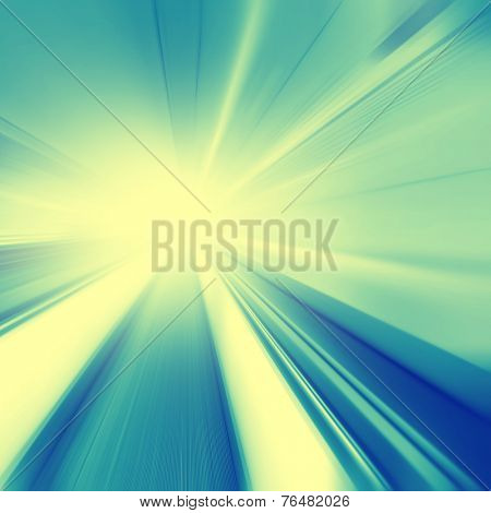 Abstract image of moving walkway and light on background.