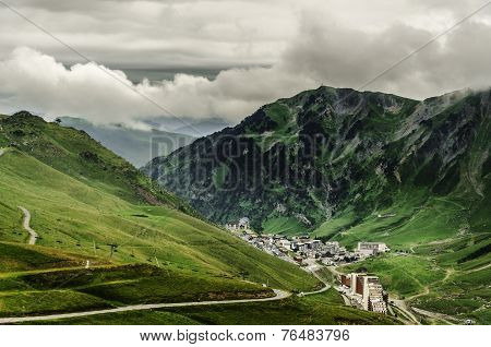 Cityscape Below The Pyrenees