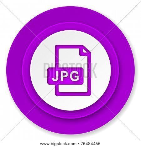jpg file icon, violet button
